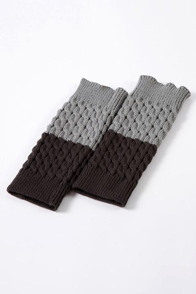 Color Block Reversible Knitted Boot Cuffs