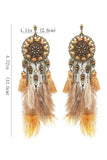 Beads Feather Tassels Earring