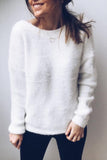 Backless Long Sleeve Sweater
