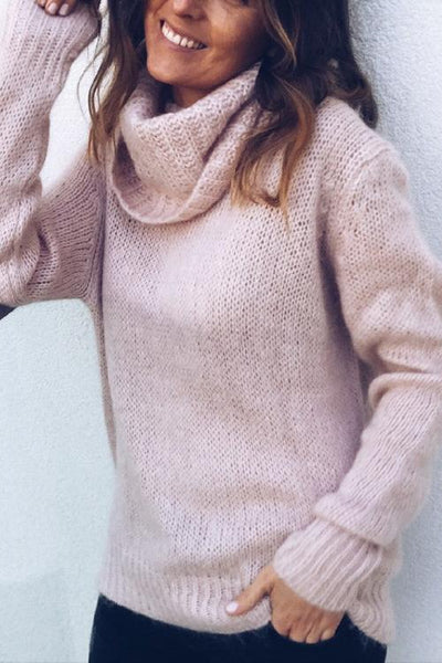 Turtleneck Long Sleeve Knit Sweaters