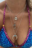 Coconut Tree Moon Layers Necklace