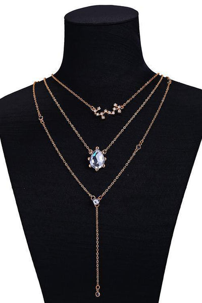 Rhinestone Layers Necklace