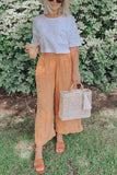 Pockets Linen Loose Pants