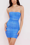 Print Slip Bodycon Mini Dress