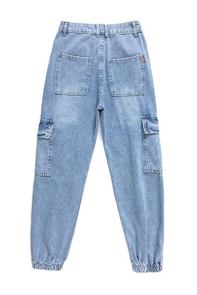 Pockets Denim Joggers