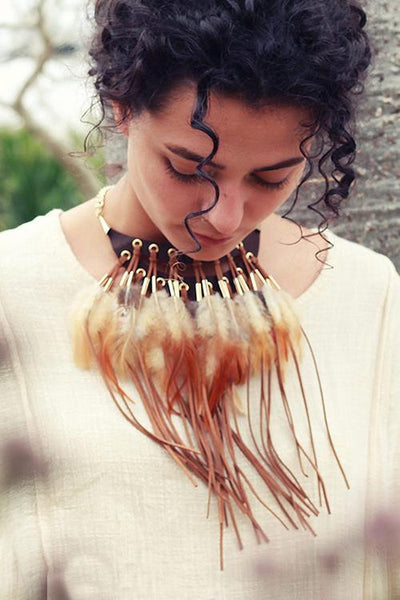 Bohomia Feather Tassels Necklace
