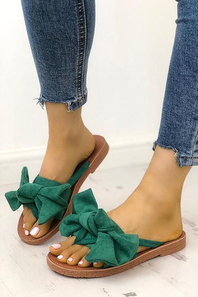 Casual Bow Thong Flat Sandals