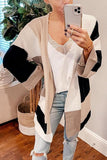 Geometry Color Block Cardigan