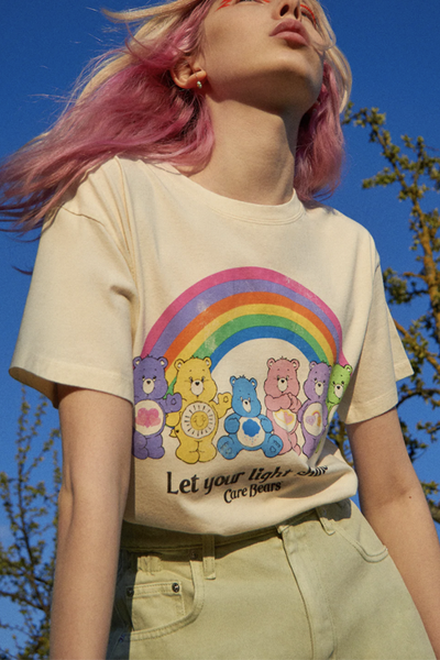 Let Your Light Shine Rainbow Bear T Shirt