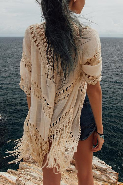 Hollow Tassels Cover Up