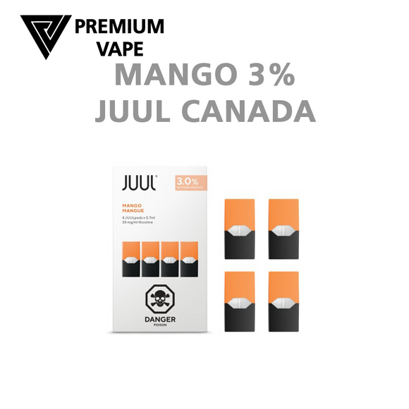 Juul Mango 3% ships worldwide from Premium Vape NZ
