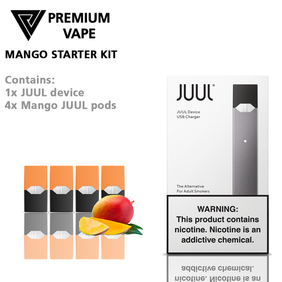 Juul Mango starter kit from Premium Vape NZ