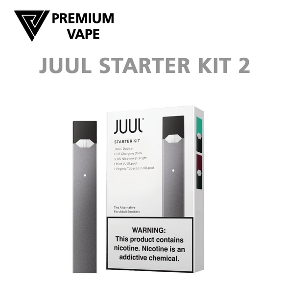 Juul Starter kit 2 -Juul device plus Mint and Virginia Tobacco pods