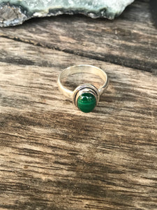 Malachite Sterling 925 Silver Ring