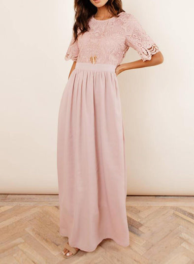 Chic Lace Tunic Maxi Dress