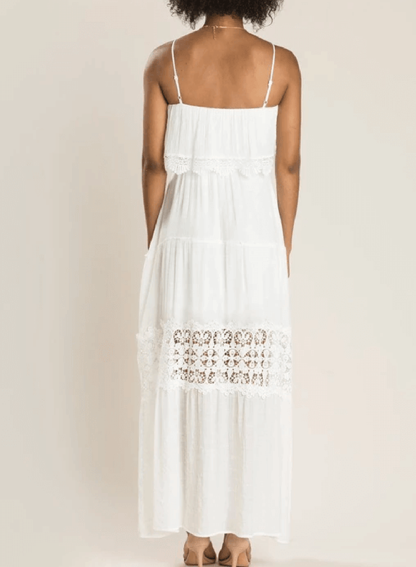 Spaghetti Lace Hollow Maxi Dress