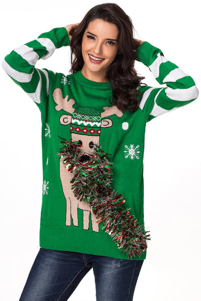 Festive Reindeer Christmas Sweater