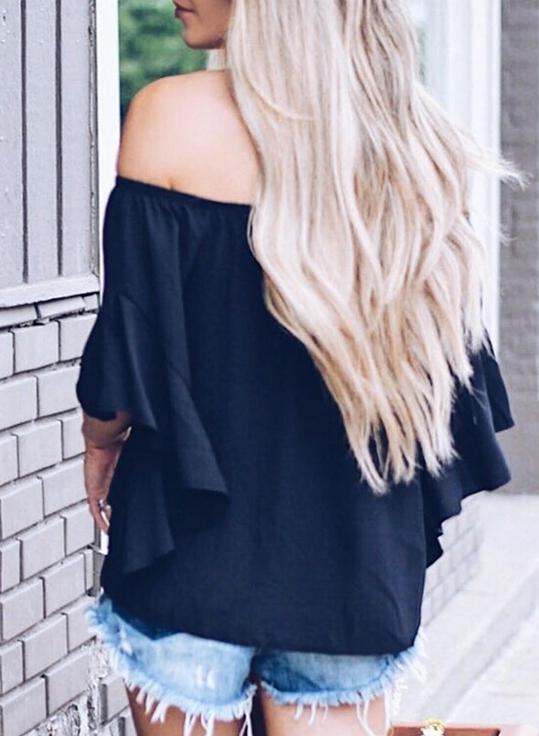Off The Shoulder Knot Front Top
