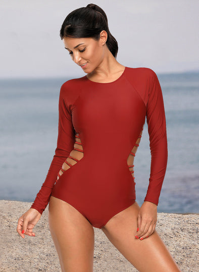 Long Sleeve One Piece Swimsuit Swimwear