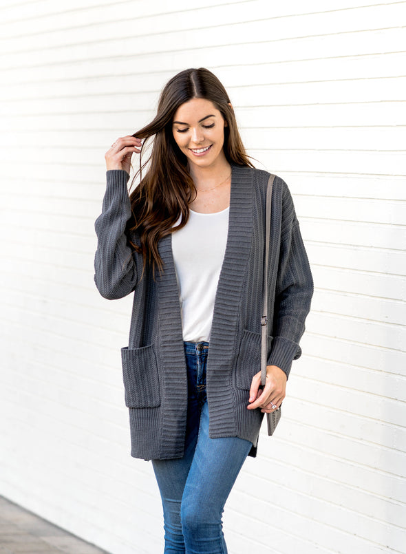 Patch Pockets Cardigan(LC270058-11-4)