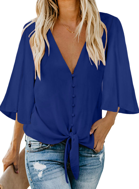 Forever Tonight Button Down Tie Top