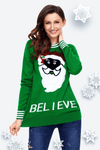 Black Santa Christmas Sweater