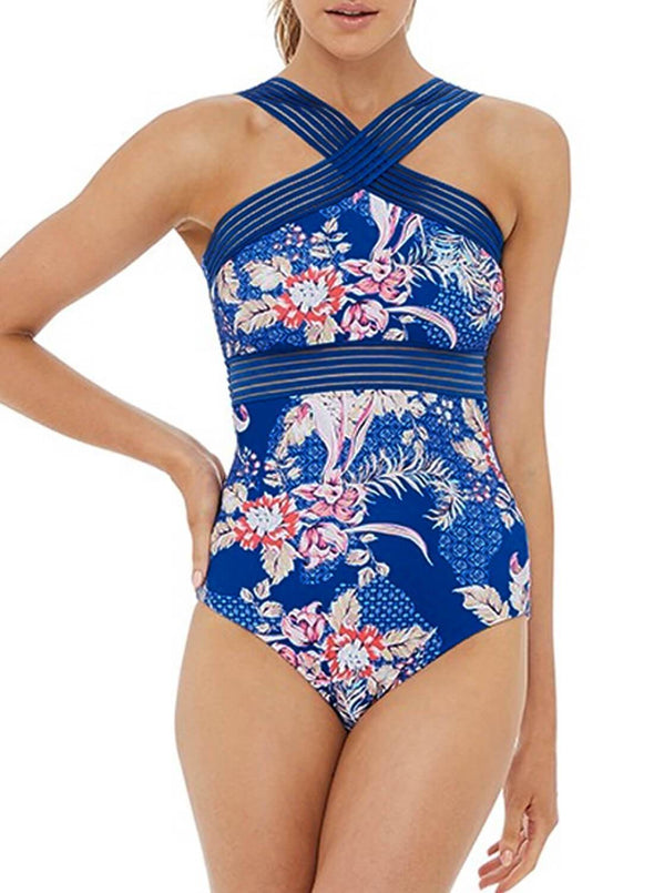 Floral Modest One-piece Swimsuit (LC411318-5-1)