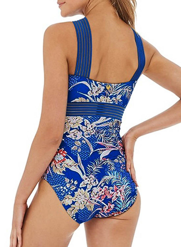 Floral Modest One-piece Swimsuit (LC411318-5-2)