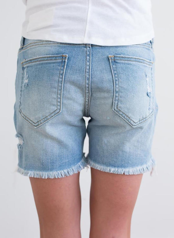 Ripped Hole Distressed Denim Shorts (LC786079-4-2)