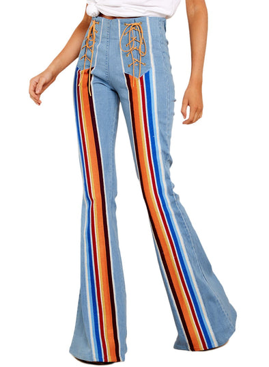 Colorful Striped Jeans(LC786194-4-1)