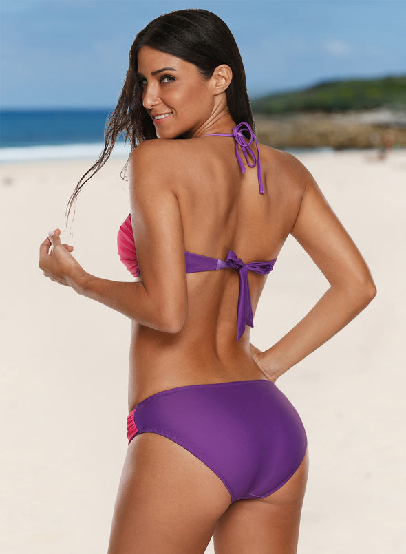 Color Block Twist Two Pieces Swimsuits