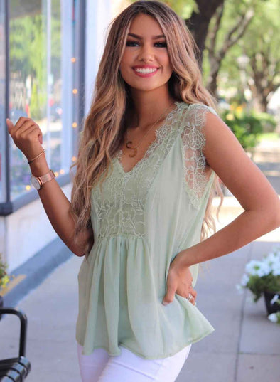 Lace Tank Top with Vest