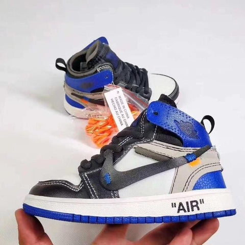"Air ""Jordan 1 Retro High Off-White Blue"" Bag Charm / Display - AZOODEAL"