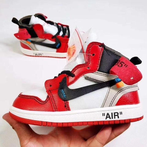 "Air ""Jordan 1 Retro High Off-White Chicago"" Bag Charm / Display - AZOODEAL"