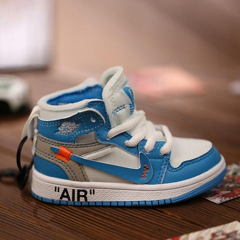 "Air ""Jordan 1 Retro High Off-White University Blue"" Bag Charm / Display - AZOODEAL"