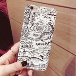 Cartoon Freehand Hard Case for iPhone - AZOODEAL