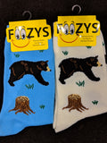 Black Bear & Brown Bear Socks  FC-54