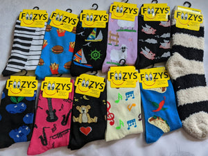 "11 Pair Sock Bundle ""E""  -  What you see in the picture is what you get - While Supplies Last"