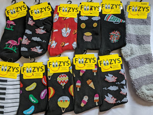 "11 Pair Sock Bundle ""F""  -  What you see in the picture is what you get - While Supplies Last - Bundle Includes 2 pairs of No Shows"