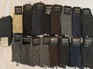 "17 Pair Men's Dress Sock Collection Bundle ""H""  -  You get everything that's pictured here"