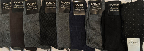 9 Pair Men's Dress Sock Collection Bundle
