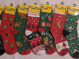 Christmas 12 Pair Sock Bundle  (FC-CHR)  What you see in the picture is what you get