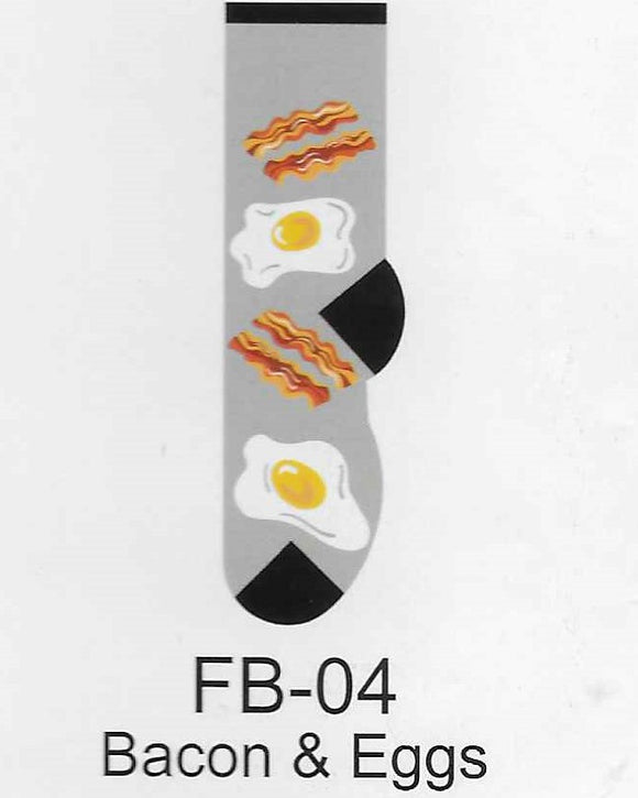 Bacon & Eggs Kids Socks   FB-04
