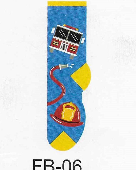 Firemen Firefighter Kids Socks  FB-06