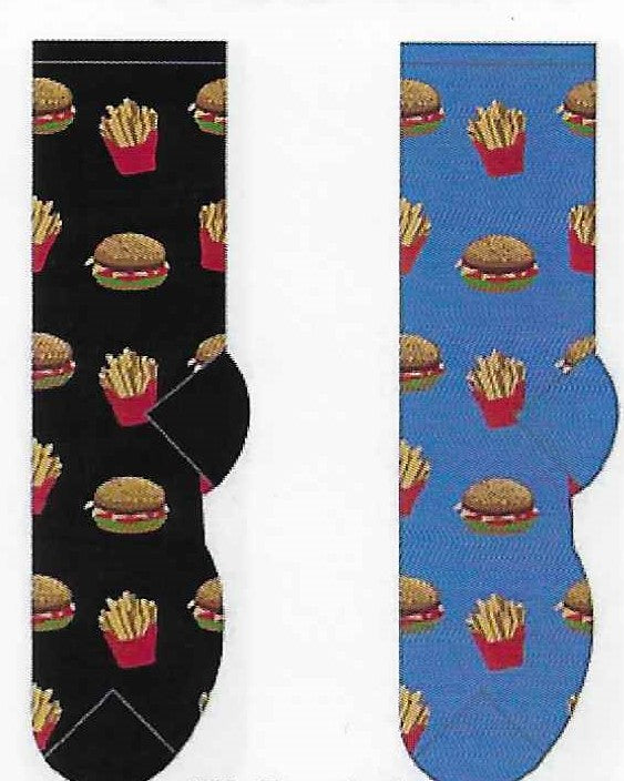 Hamburger & Fries Socks  FC-06