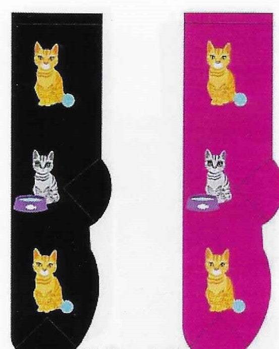 Cat & Yarn Ball Socks  FC-10