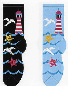 Lighthouse & Seagulls Socks  FC-120