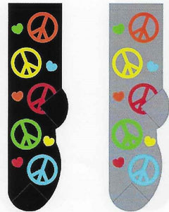 Peace Signs Socks  FC-125