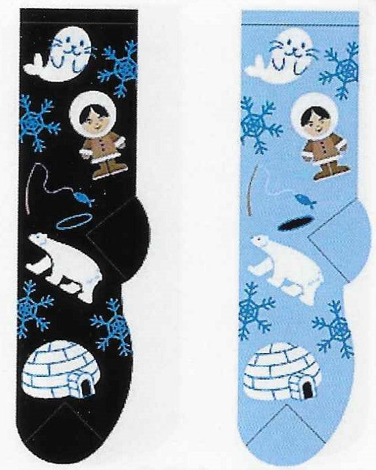 Eskimo, Igloo & Polar Bear Socks  FC-145