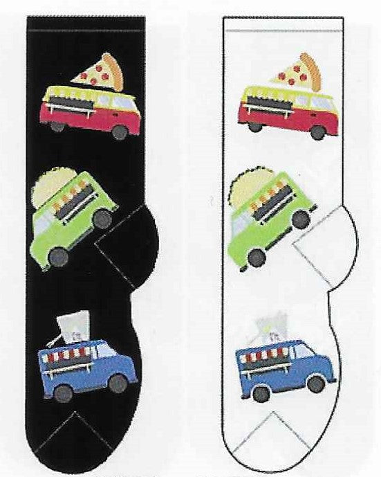 Food Trucks Socks  FC-178